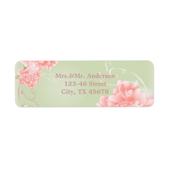 Spring Botanical mint pink peony wedding