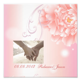 Spring Botanical  pink peony wedding Photo Art