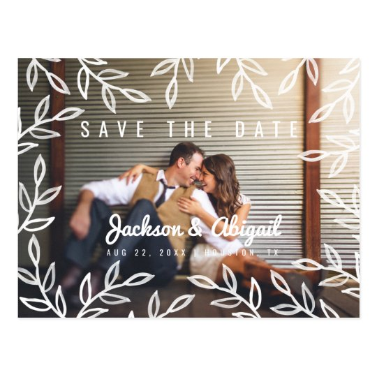 Spring Botanical Watercolor Save the Date Postcard