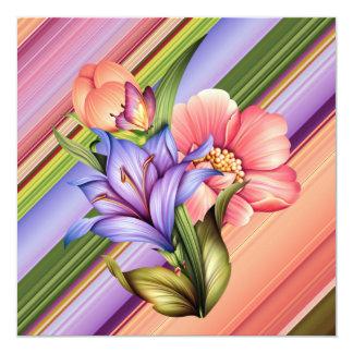 Spring Bouquet 13 Cm X 13 Cm Square Invitation Card