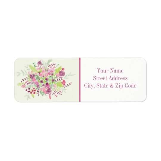 Spring Bouquet Address Label