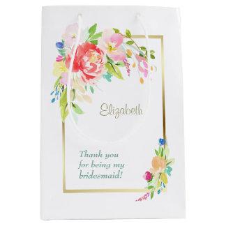 Spring Bouquet Bridesmaid Medium Gift Bag