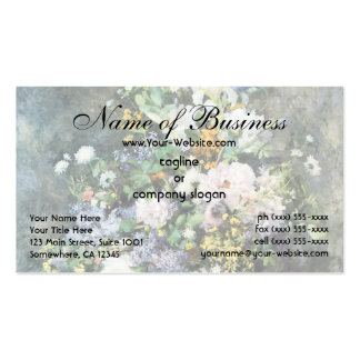 Spring Bouquet by Pierre Renoir, Vintage Flowers Pack Of Standard Business Cards