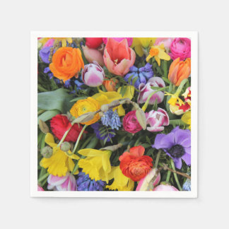 Spring bouquet by Thespringgarden Paper Napkin