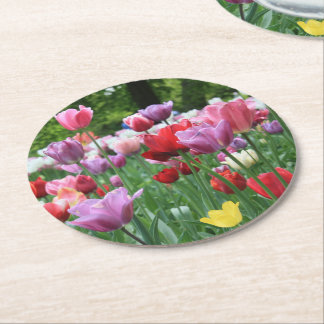 Spring bouquet by Thespringgarden Round Paper Coaster