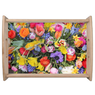 Spring bouquet by Thespringgarden Serving Tray