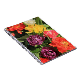 Spring bouquet by Thespringgarden Spiral Notebook