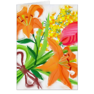 Spring Bouquet Note Card