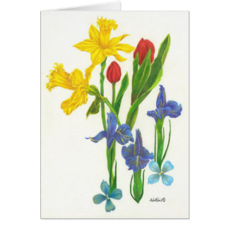 Spring Bouquet Card