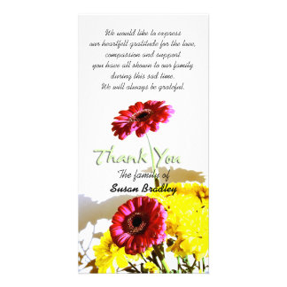 Spring Bouquet - Sympathy Thank You #1 Customized Photo Card