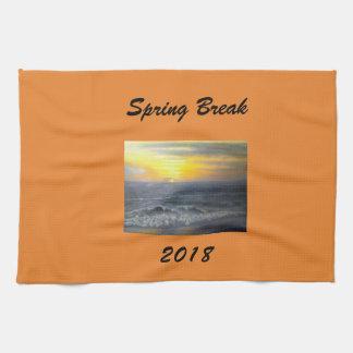 """""""SPRING BREAK 2018 OCEAN SUNSET KITCHEN TOWEL"""" TEA TOWEL"""