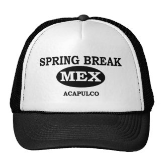 Spring Break Acapulco, Mexico Mesh Hat