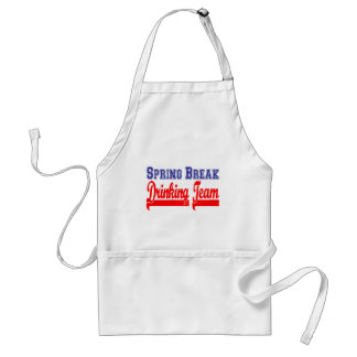 Spring Break Drinking Team Themed Party Apron