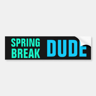 SPRING BREAK DUDE bumper sticker