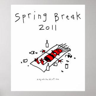 Spring Break Girl Print