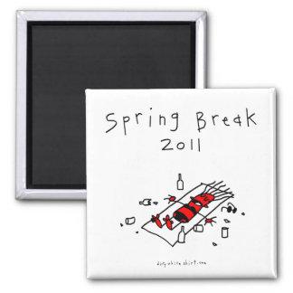 Spring Break Girl Square Magnet