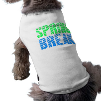 Spring Break Neon Design Sleeveless Dog Shirt