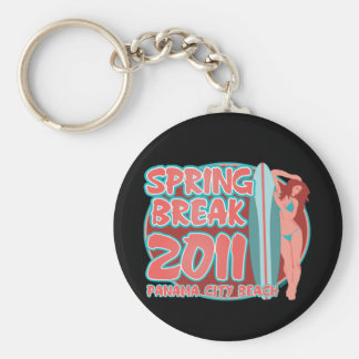 Spring Break Panama City Beach Basic Round Button Key Ring