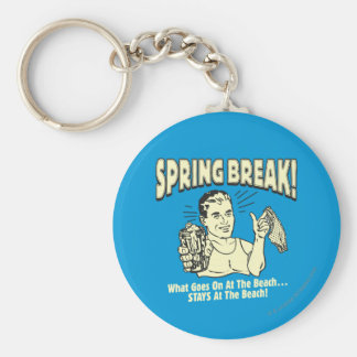 Spring Break: Stays at the Beach Basic Round Button Key Ring