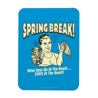 Spring Break: Stays at the Beach Rectangle Magnet
