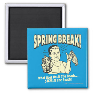 Spring Break: Stays at the Beach Square Magnet