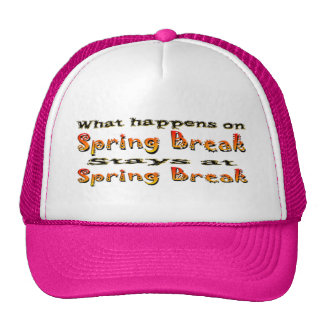 Spring Break What Happens Cap
