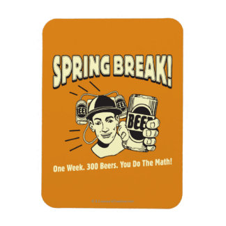 Spring Break: You do the Math Rectangular Photo Magnet