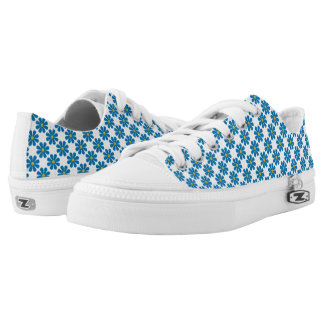 Spring bright blue flowers low tops