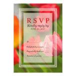 Spring Bright Tulips Response RSVP Card