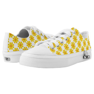 Spring bright yellow flowers low tops