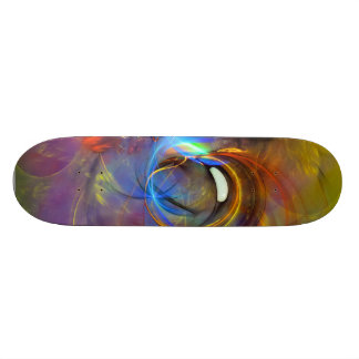 Spring Bubble- Colorful Digital Abstract Art Skate Board
