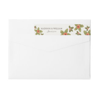 Spring Buds Wedding Wrap Around Label