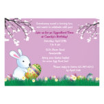 Spring Bunny Easter Card Personalised Invitation