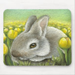 Spring bunny mouse pad