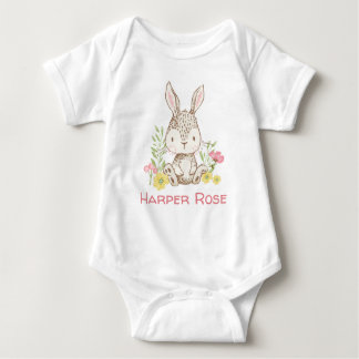 Spring Bunny - Personalized Baby Bodysuit