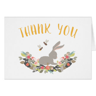 Spring Bunny Rabbit Thank You Note Card