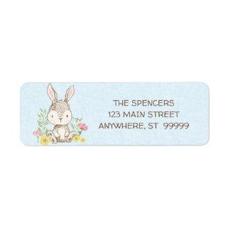 Spring Bunny Return Address Labels