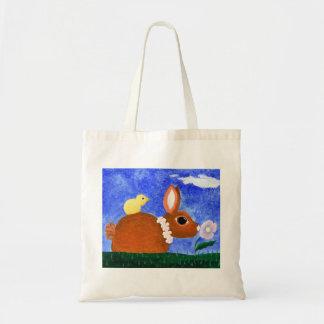 Spring Bunny Budget Tote Bag