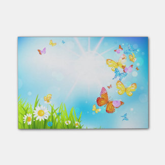 Spring Butterflies Post-it Notes
