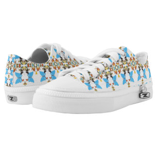 Spring Butterfly Colored Collage Vibrant Printed Printed Shoes