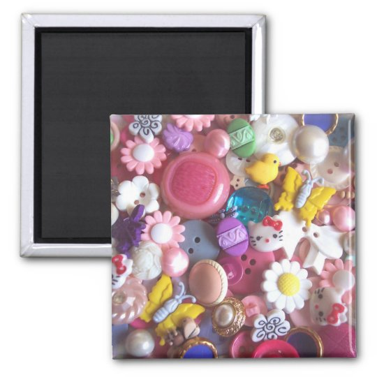 Spring Buttons Square Magnet