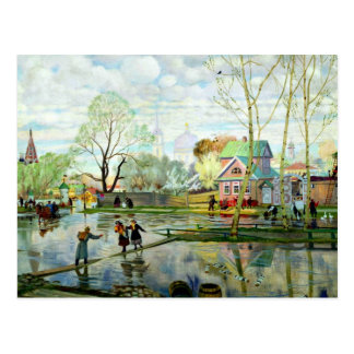 Spring by Boris Kustodiev Postcard
