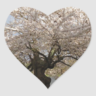 Spring by the River Heart Stickers