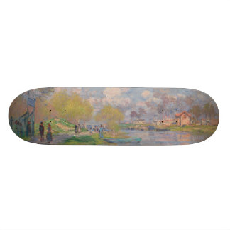 Spring by the Seine by Claude Monet 21.6 Cm Skateboard Deck