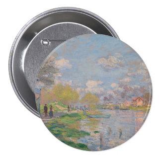 Spring by the Seine by Claude Monet 7.5 Cm Round Badge