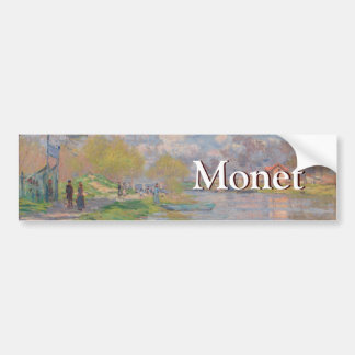 Spring by the Seine by Claude Monet Bumper Sticker
