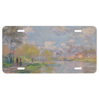 Spring by the Seine by Claude Monet License Plate