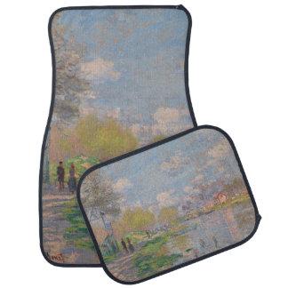 Spring by the Seine by Claude Monet Floor Mat
