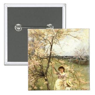 Spring, c.1880 15 cm square badge