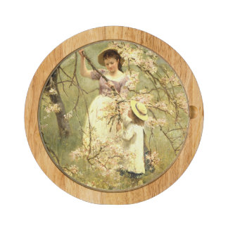 Spring, c.1880 round cheeseboard